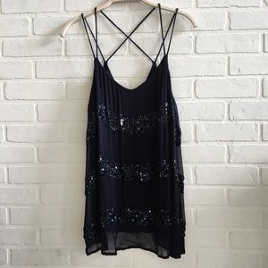 NWOT Willow & Clay Nordstrom beaded tank